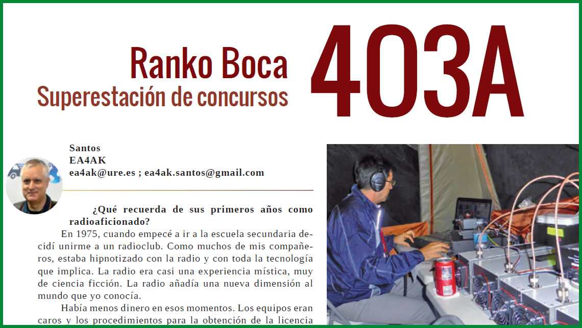 4O3A in the famous Spanish URE Magazine