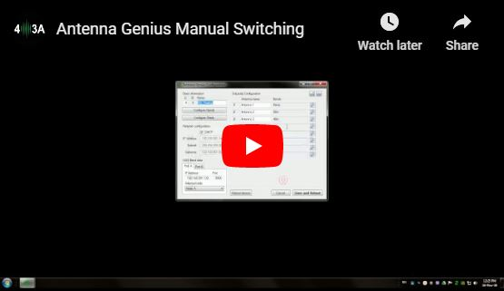 Antenna Genius Manual Switching
